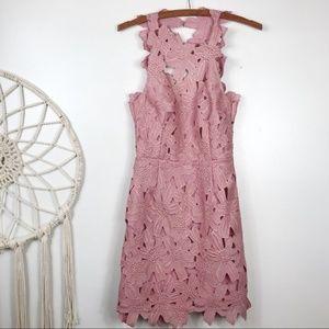 "Saylor X Free People ""Jessa"" Floral Lace Dress"